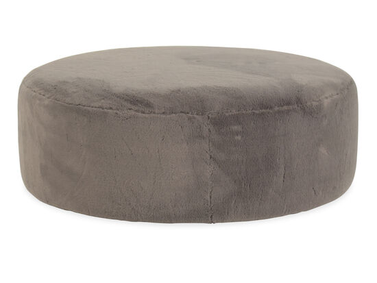 """Casual 42"""" Round Cocktail Ottoman in Brown"""