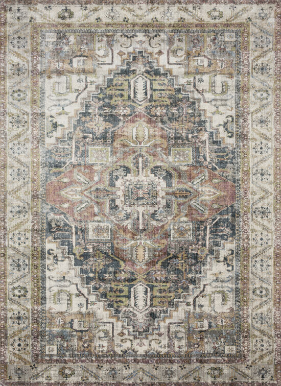 Loloi Power Loomed 2'7''x 8' Rug in Ivory/Multi
