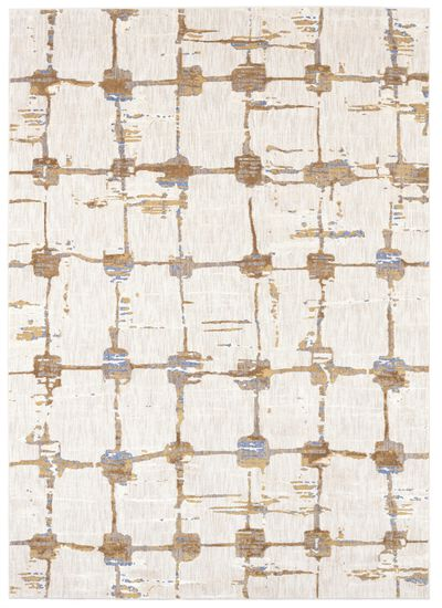 "Contemporary 5' 3""x7' 10"" Woven Rectangle Rug in Antique White"