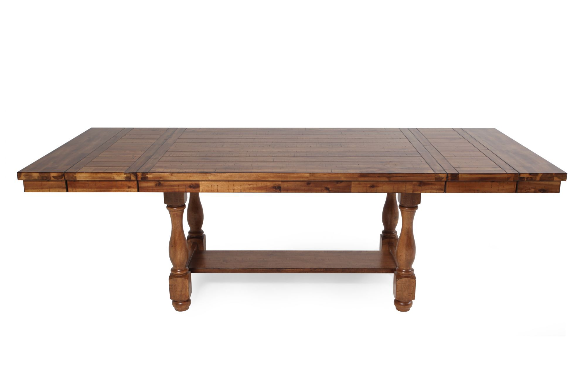 Traditional 68 Quot To 92 Quot Extendable Pedestal Dining Table In