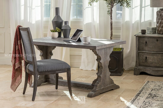 "60"" Traditional Writing Desk in Shale"