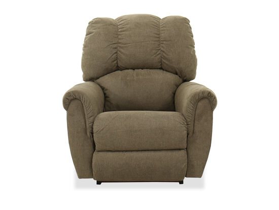 Arched Pillow Arms Casual 38'' Rocking Recliner in Sage