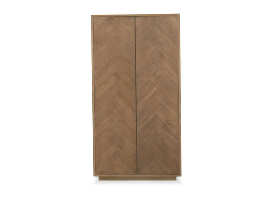 Traditional Two-Door Armoire in Brown