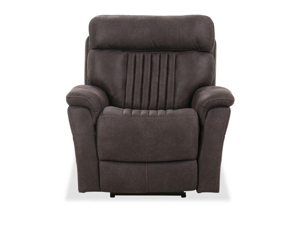 Casual 40'' Power Recliner in Chocolate