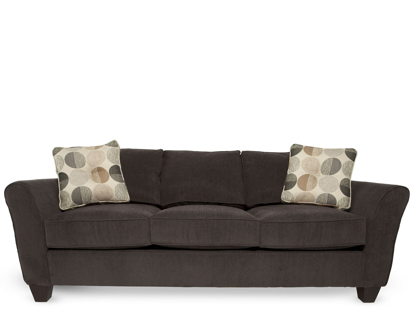 corduroy living room furniture microfiber corduroy 87 quot sofa in charcoal mathis brothers 15116