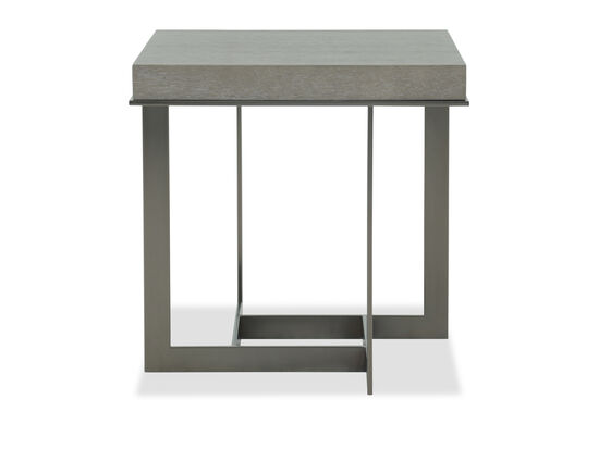 Rectangular Modern End Table in Dark Taupe