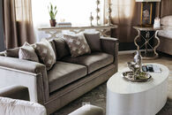 "A.R.T. Velvet 88.5"" Sofa in Brown"