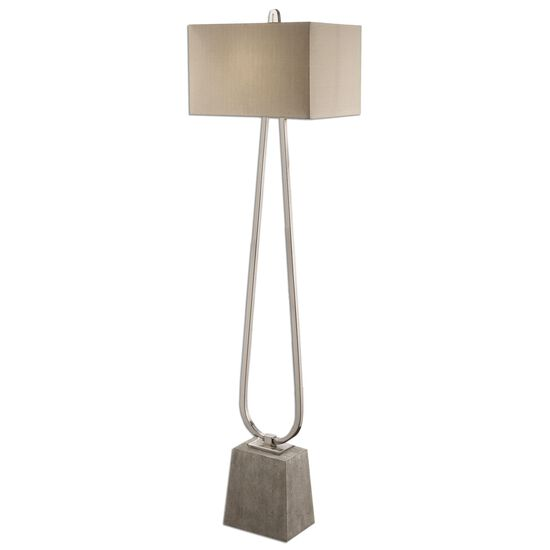 Handforged Nickel Plated Floor Lamp in Taupe Bronze