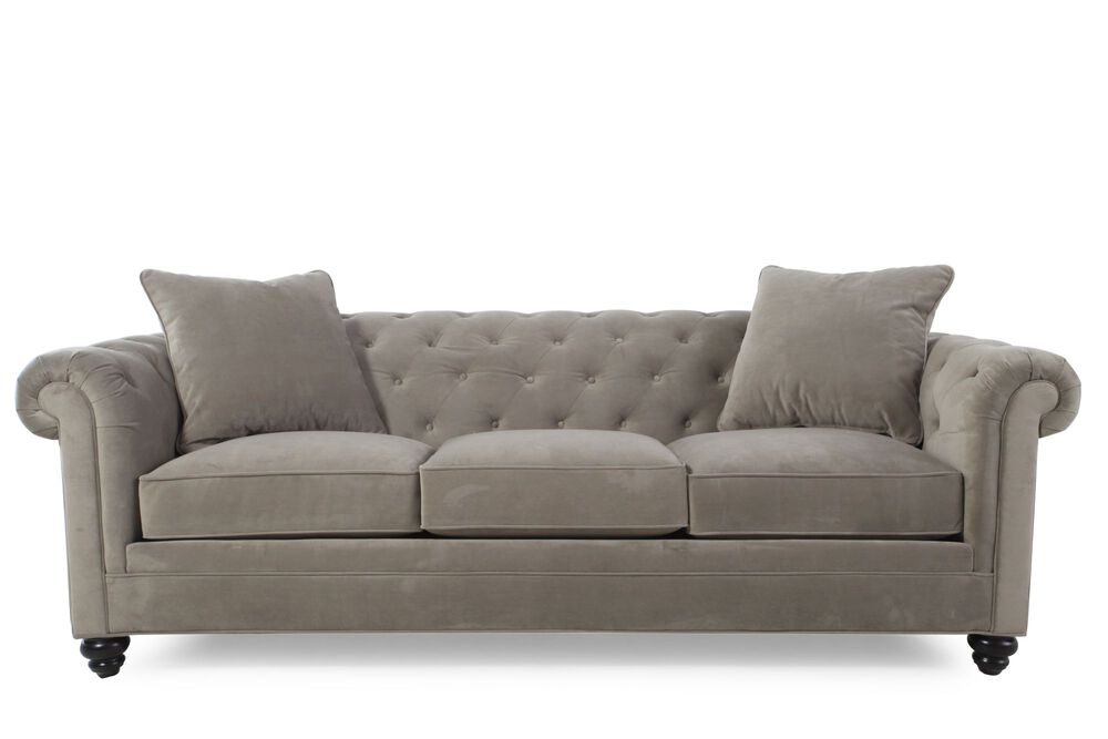 Images Contemporary On Tufted 92 Sofa In Gray