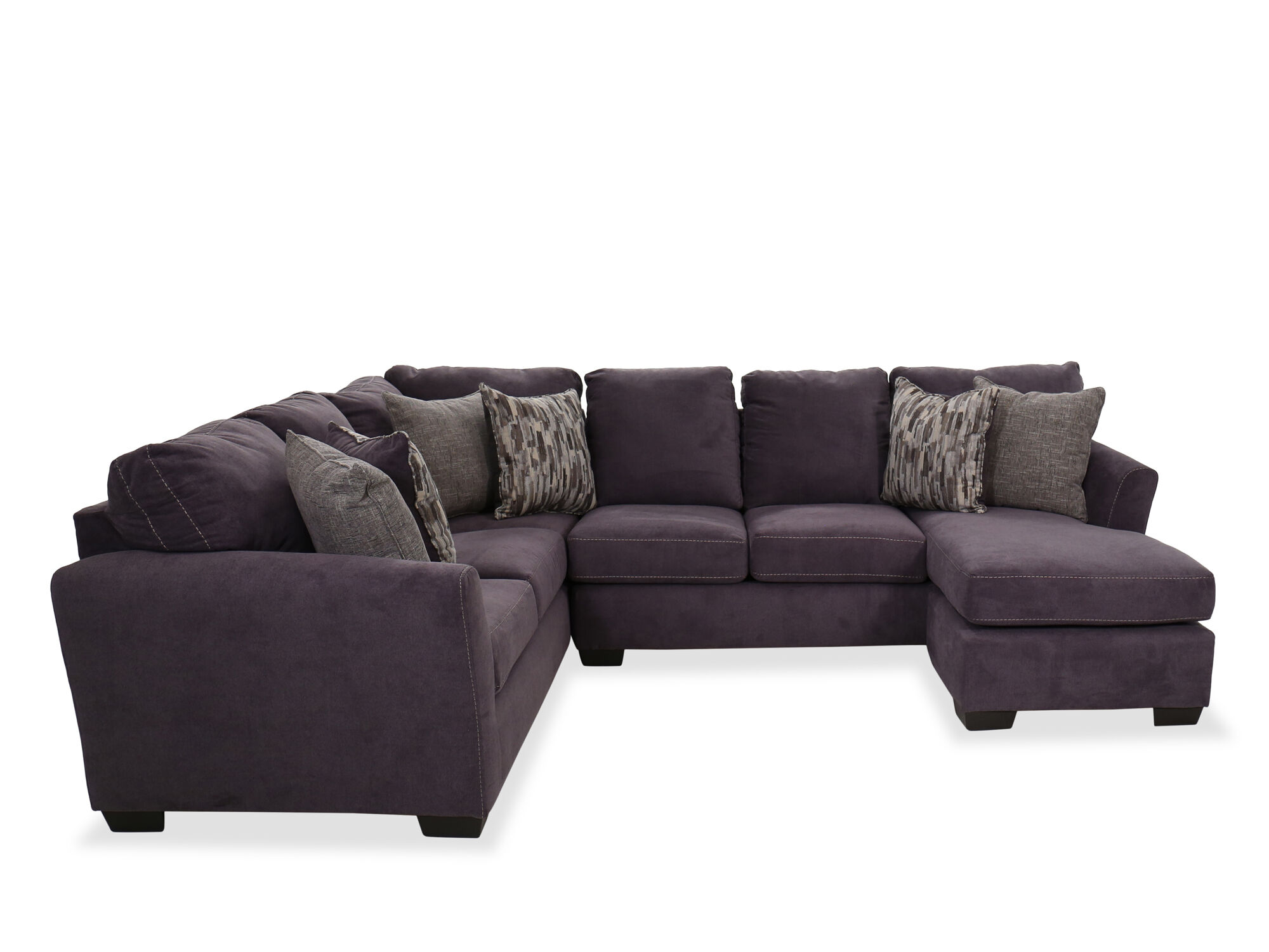 Casual Two-Piece Sectional in Blue  Mathis Brothers Furniture