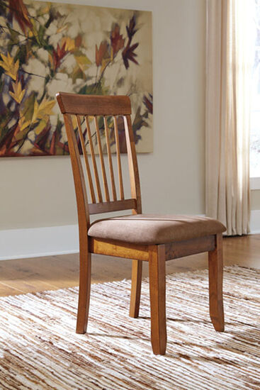 Spindle Back 38'' Dining Side Chair in Rustic Brown