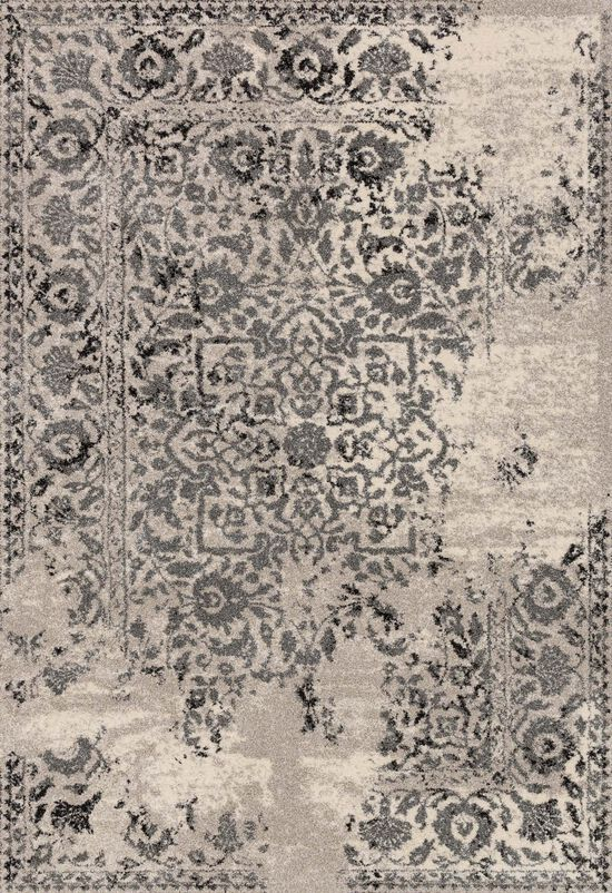 "Transitional 2'-5""x7'-7"" Rug in Ivory/Charcoal"