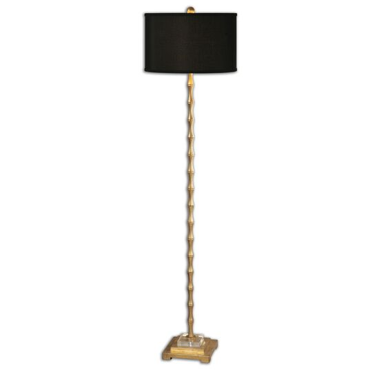 Bamboo-Shaped Floor Lamp in Gold Leaf
