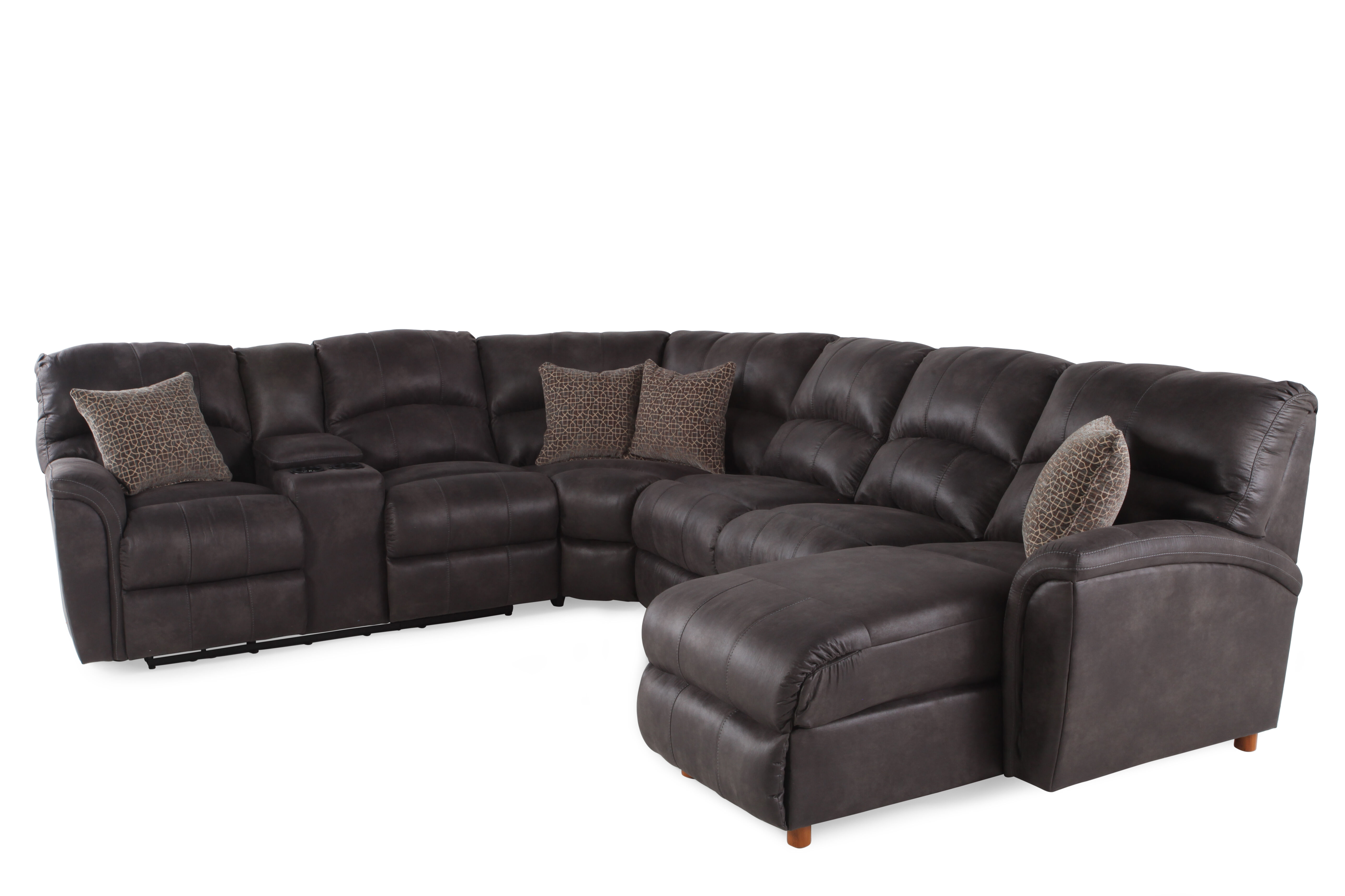 Lane Grand Torino Grey Sectional  sc 1 st  Mathis Brothers : lane grand torino sectional - Sectionals, Sofas & Couches