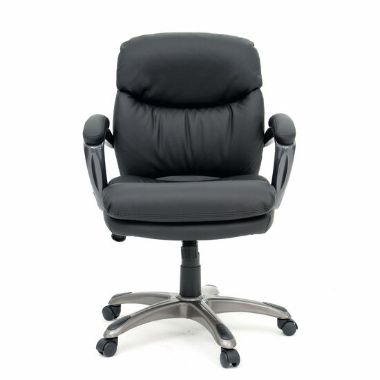 Mid-Back Height Adjustable Manager's Chair in Black