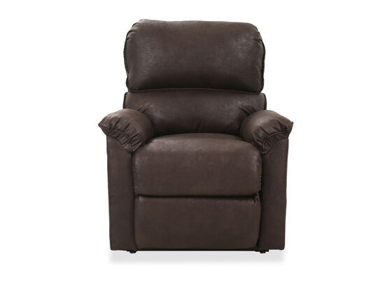 """Transitional 41"""" Electric Lift Chair in Brown"""