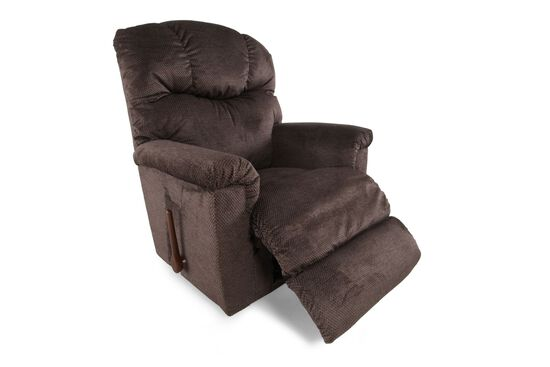 "Textured Contemporary 38"" Recliner in Brown"