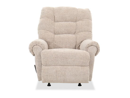 "Casual 40"" Rocker Recliner in Hay"