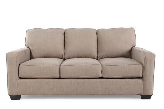 Contemporary 76 Full Sleeper Sofa In Light Brown