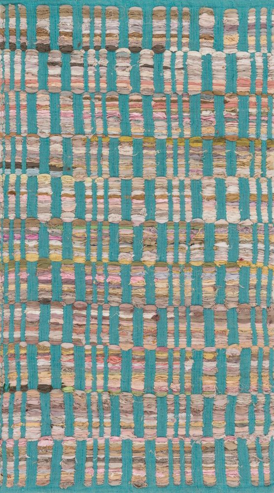Contemporary Rug in Turquoise