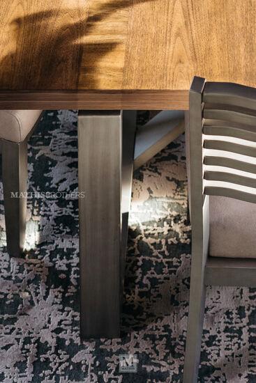 Seven-Piece Modern Dining Set in Cream