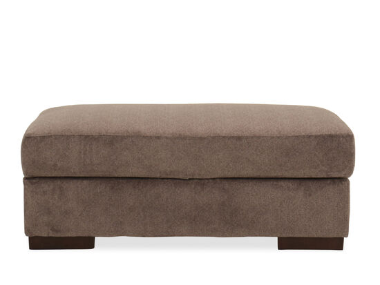 "Contemporary 49"" Storage Ottoman in Graphite"