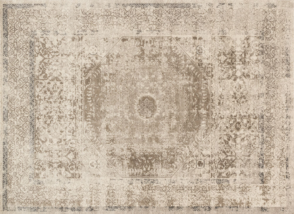 Loloi Century Power Loomed Rug in Taupe/Sand