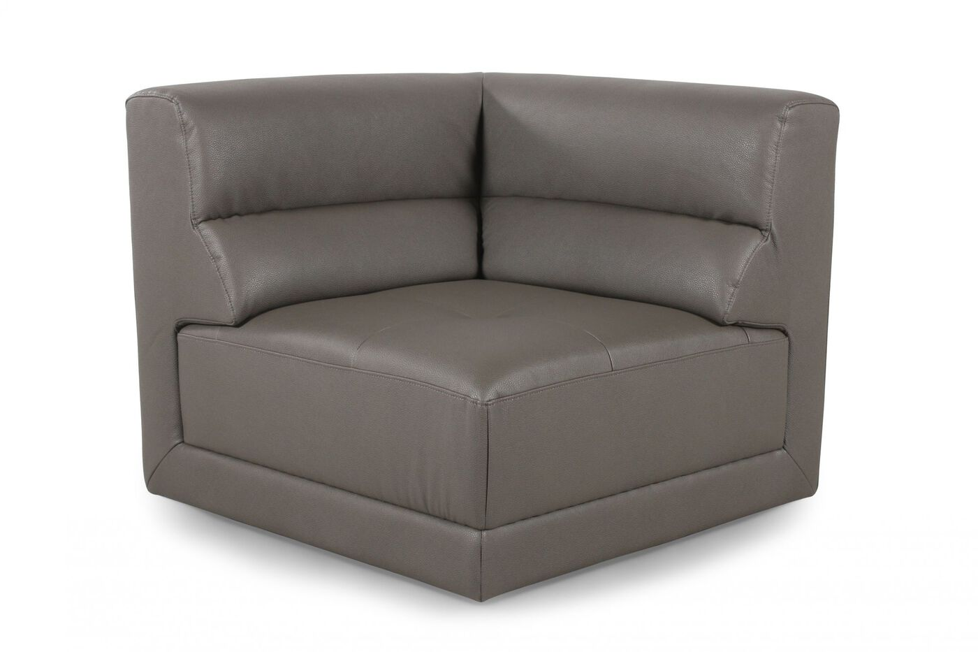 Living Room Corner Chairs: Contemporary Corner Chair In Dove Gray