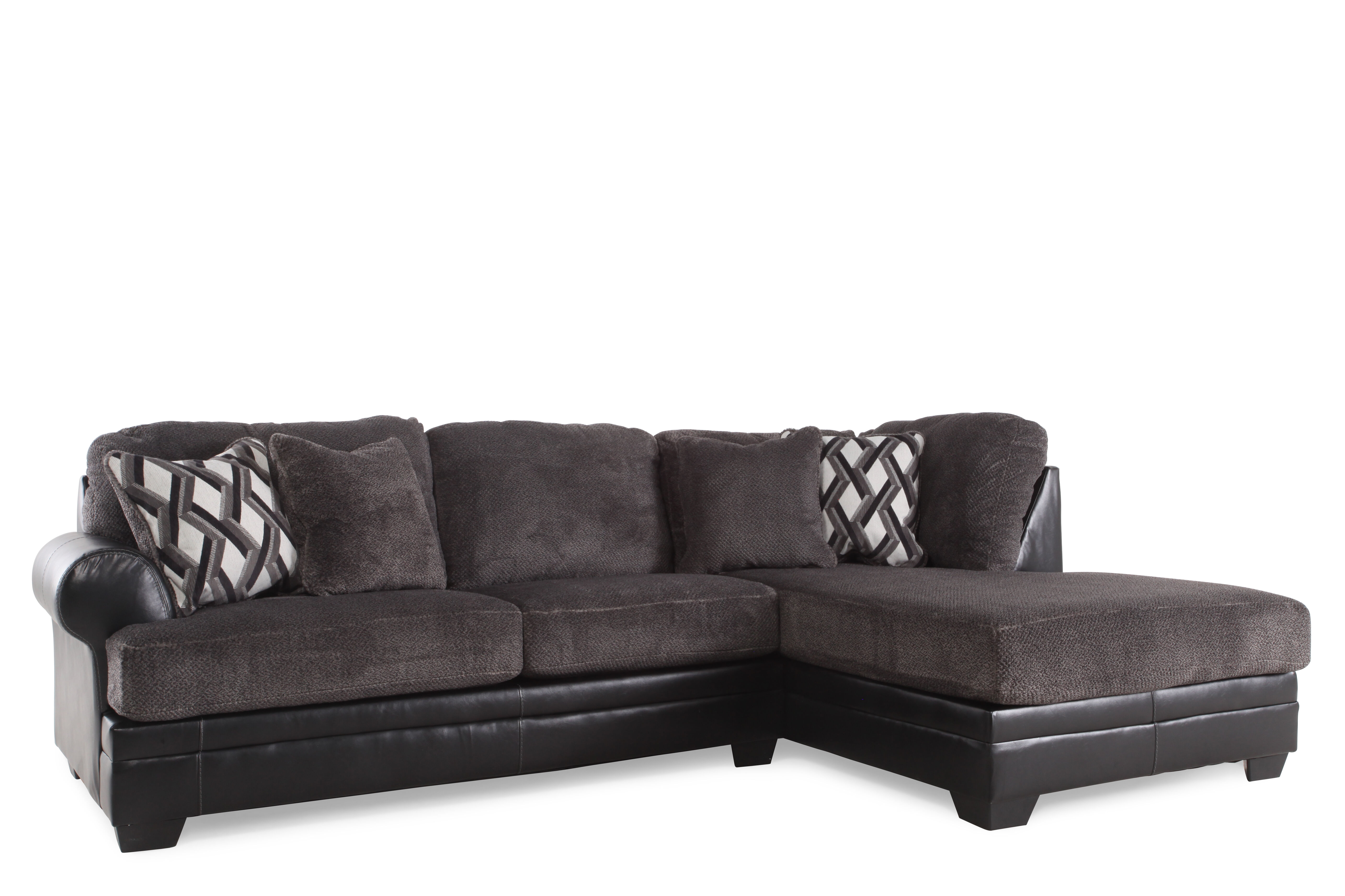 ... Two Piece Microfiber 123u0026quot; Sectional In Gray