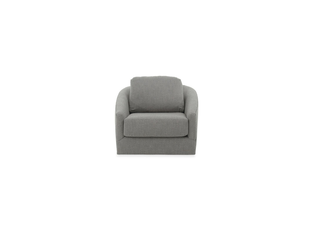 Textured Contemporary Swivel Chair in Gray | Mathis Brothers ...