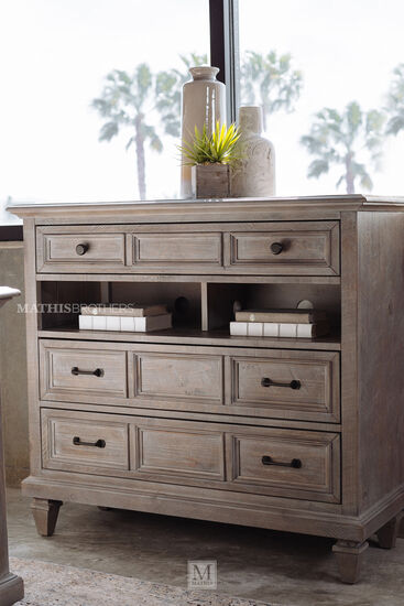 "40"" Transitional Media Chest in Dovetail Gray"