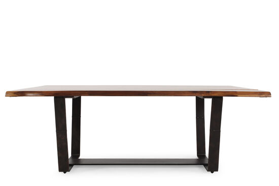 """Casual 42"""" Plank Top Dining Table in Industrial Gray"""