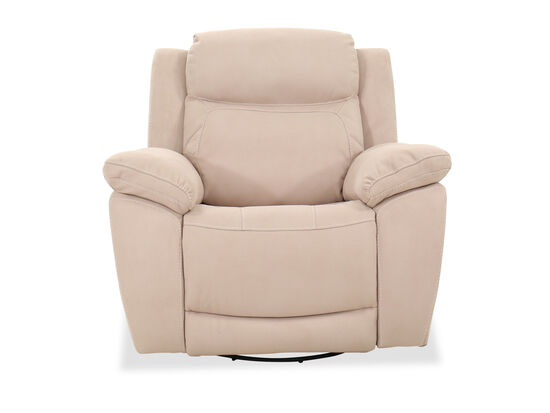 "Contemporary 43"" Swivel Recliner in Beige"