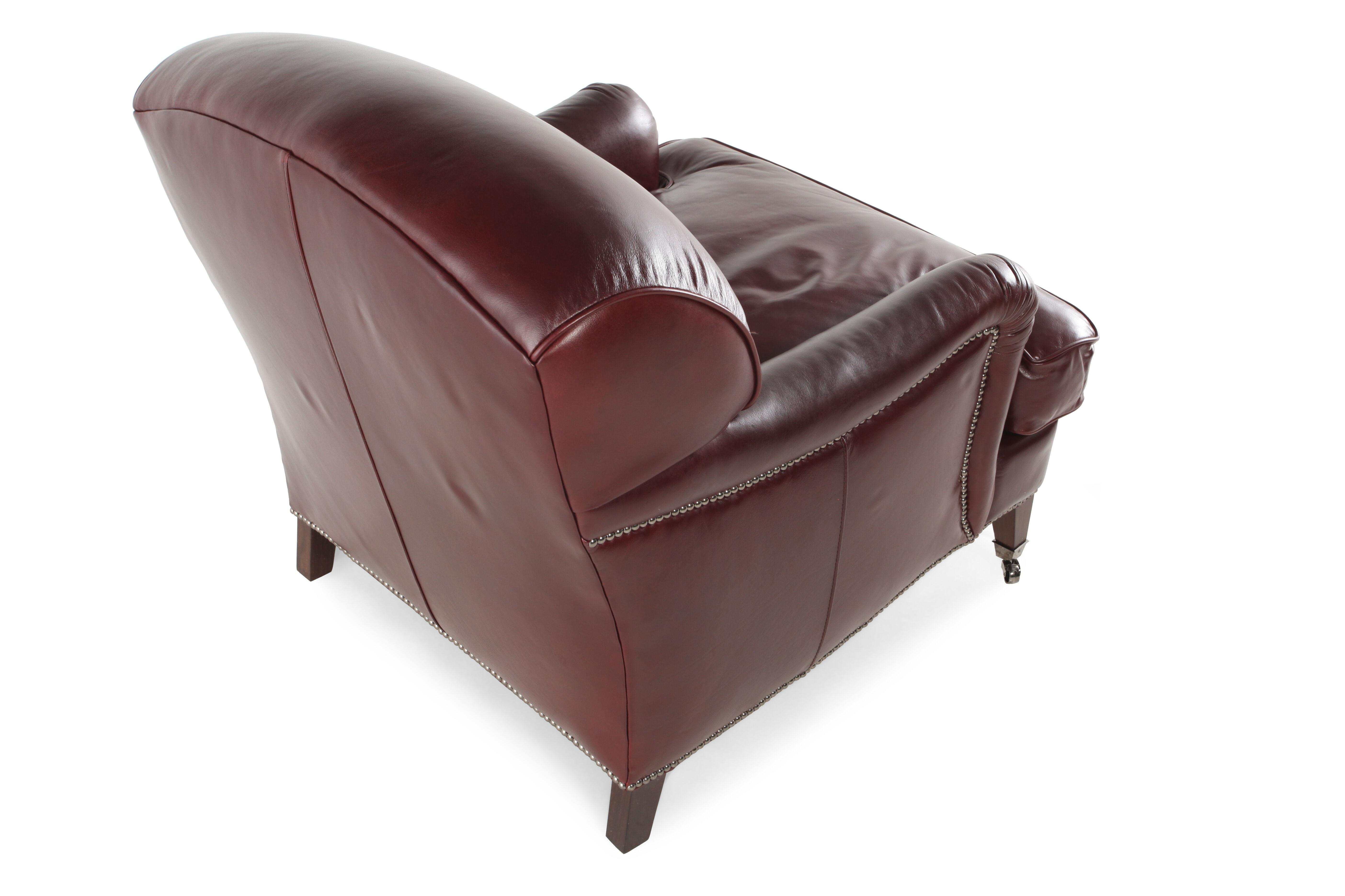 Henredon Angelica Leather Chair  sc 1 st  Mathis Brothers & Henredon Angelica Leather Chair | Mathis Brothers Furniture islam-shia.org