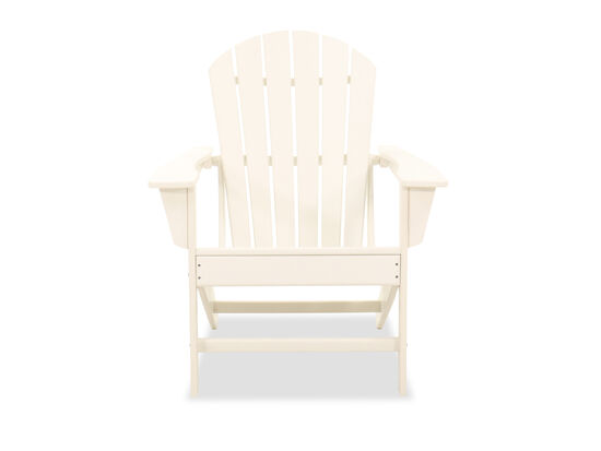 Casual Adirondack Patio Chair in White