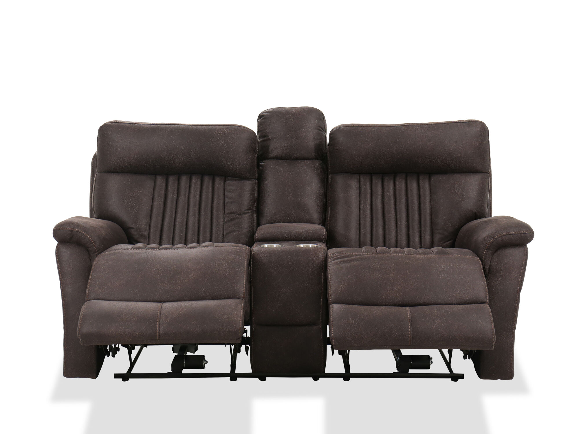 Casual 76 Power Reclining Loveseat With Console In