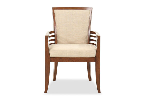 """Contemporary 25"""" Arm Chair in Walnut"""