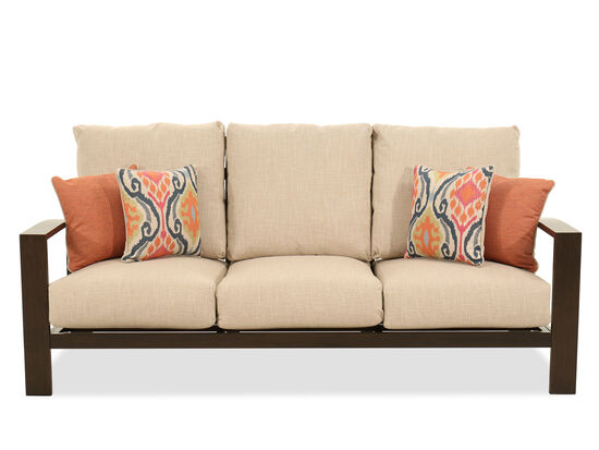 Contemporary Aluminum Sofa in Beige