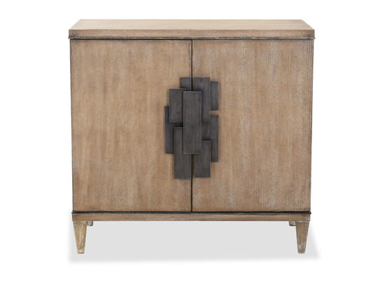 Transitional Two-Door Chest in Light Wood