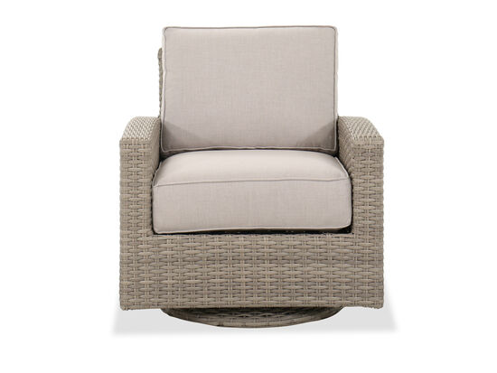 Contemporary Swivel Patio Glider Chair in Light Grey