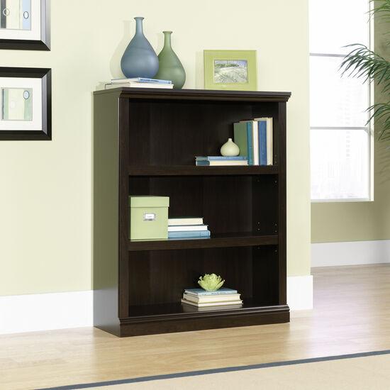 Transitional Adjustable Shelf Open Bookcase in Jamocha Wood