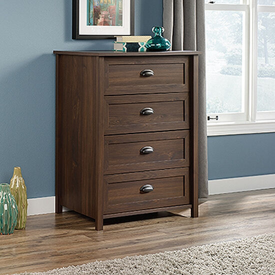 """41.5"""" Traditional Four-Drawer Chest in Rum Walnut"""