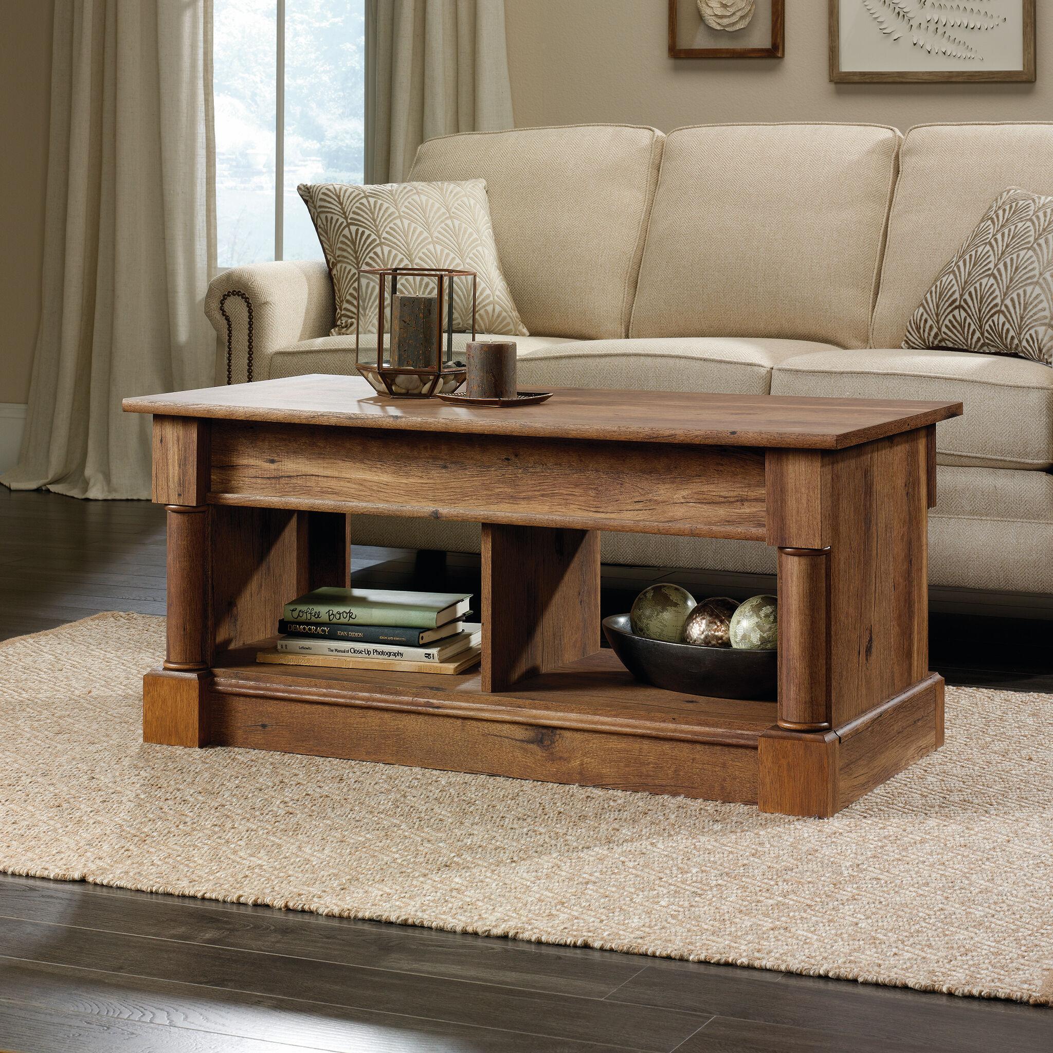 Rectangular Lift Top Contemporary Coffee Tableu0026nbsp;in Vintage Oak