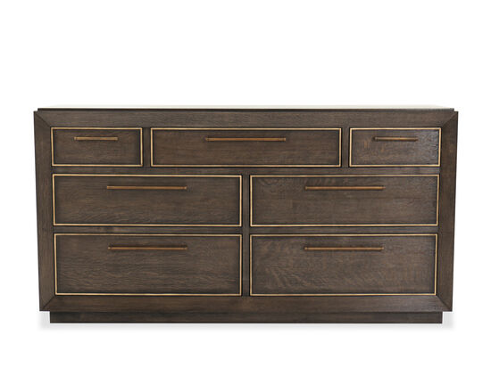 "40"" Traditional Seven-Drawer Dresser in Lloyd Brown"