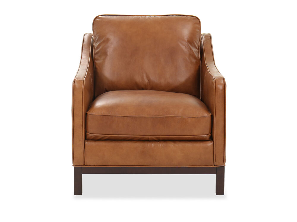 Casual Leather Chair in Caramel