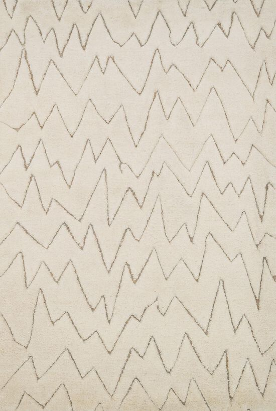 """Transitional 2'-0""""x3'-0"""" Rug in Ivory"""