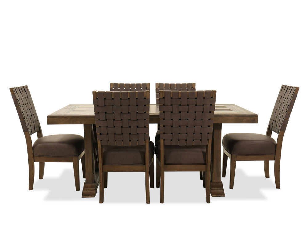 Seven Piece Dining Set In Brown Mathis Brothers Furniture