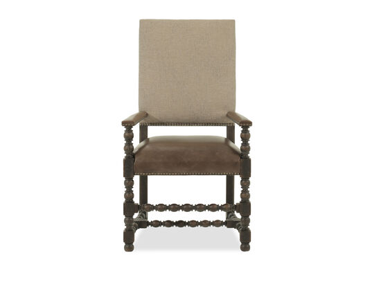 Leather 44'' Arm Chair in Brown