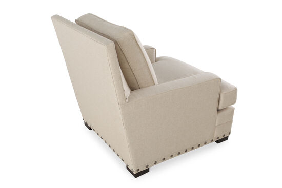 """Textured Contemporary 34.5"""" Chair in Cream"""