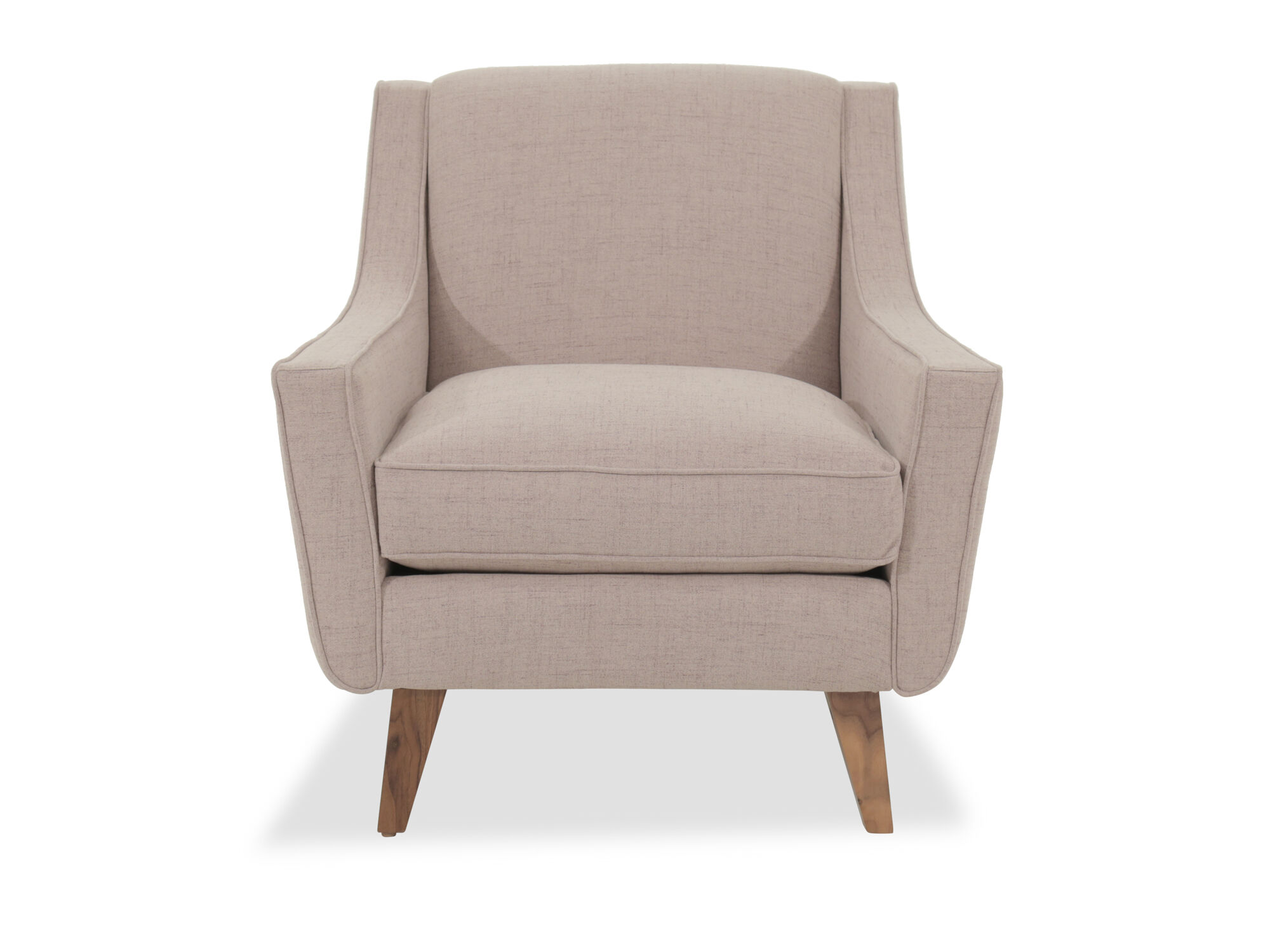 Mid Century Modern 33u0026quot; Accent Chair In Light Brown